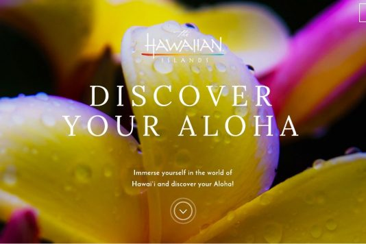 Hawaiian facial recognition travel marketing campaign flower image