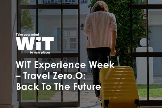 """Image describing Web In Travel Experience Week theme of """"back to the future"""""""