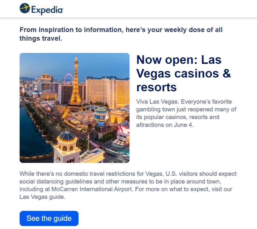 Las Vegas recovery marketing campaign